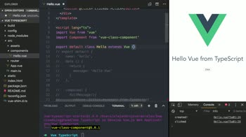 vue tutorial about Write a Vue Component as a Class in TypeScript