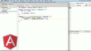 angularjs tutorial about Write Your First Directive